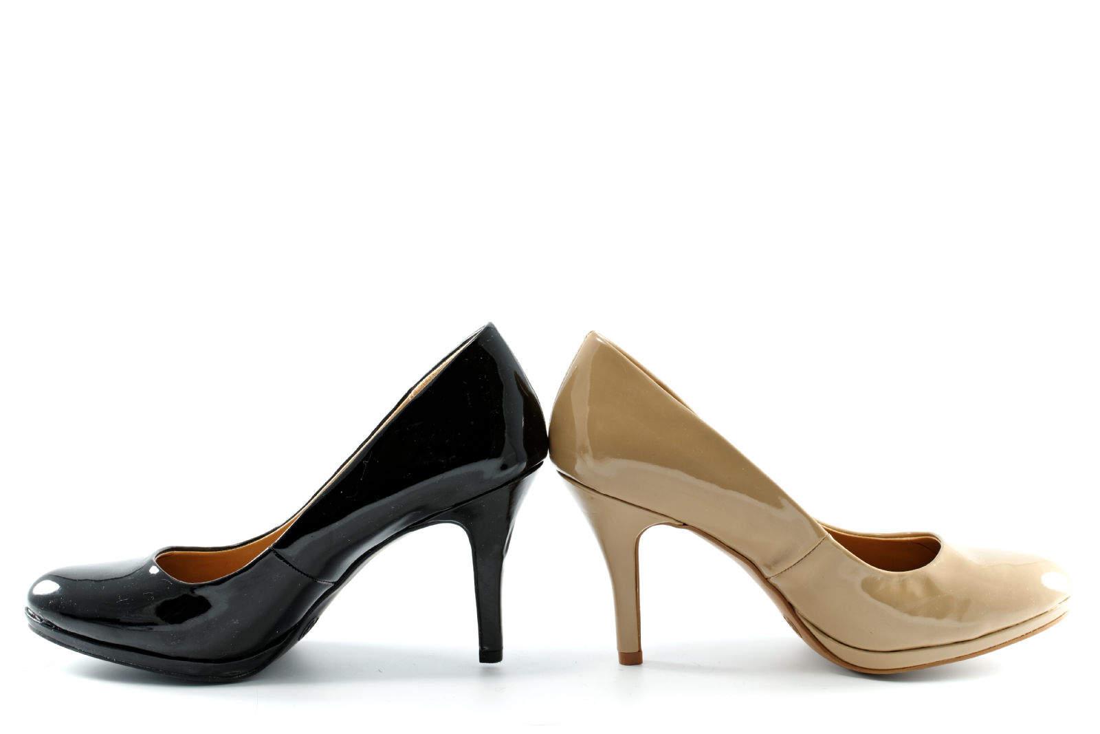 Black & Beige Heel