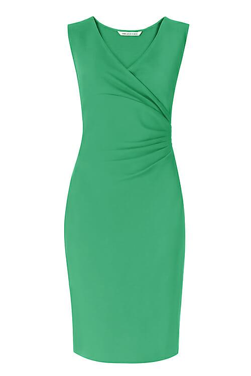 DVF Green Sheath Dress