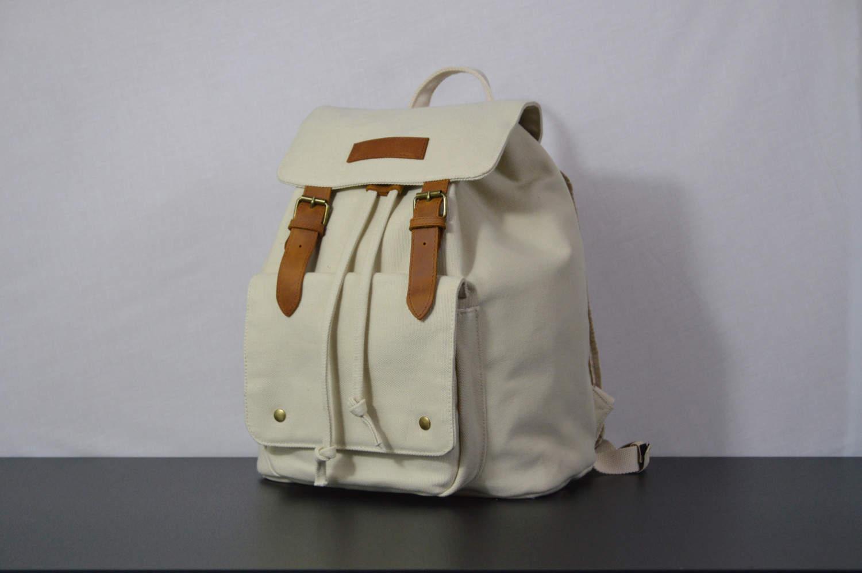Kurtis Paul Canvas Cream Backpack Rucksack