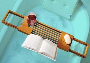 Bathtub Tray with Book