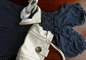 Polka Dot Nordstrom Jumpsuit w Michael Kors Handbag