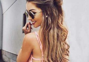 Half-Bun-Hairstyle