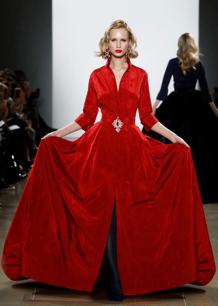 Zang Toi Red Ballgown