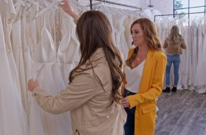 Sarah Looking at Wedding Dresses
