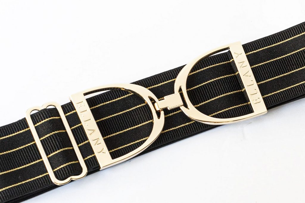Stirrup Belt - Gold & Black