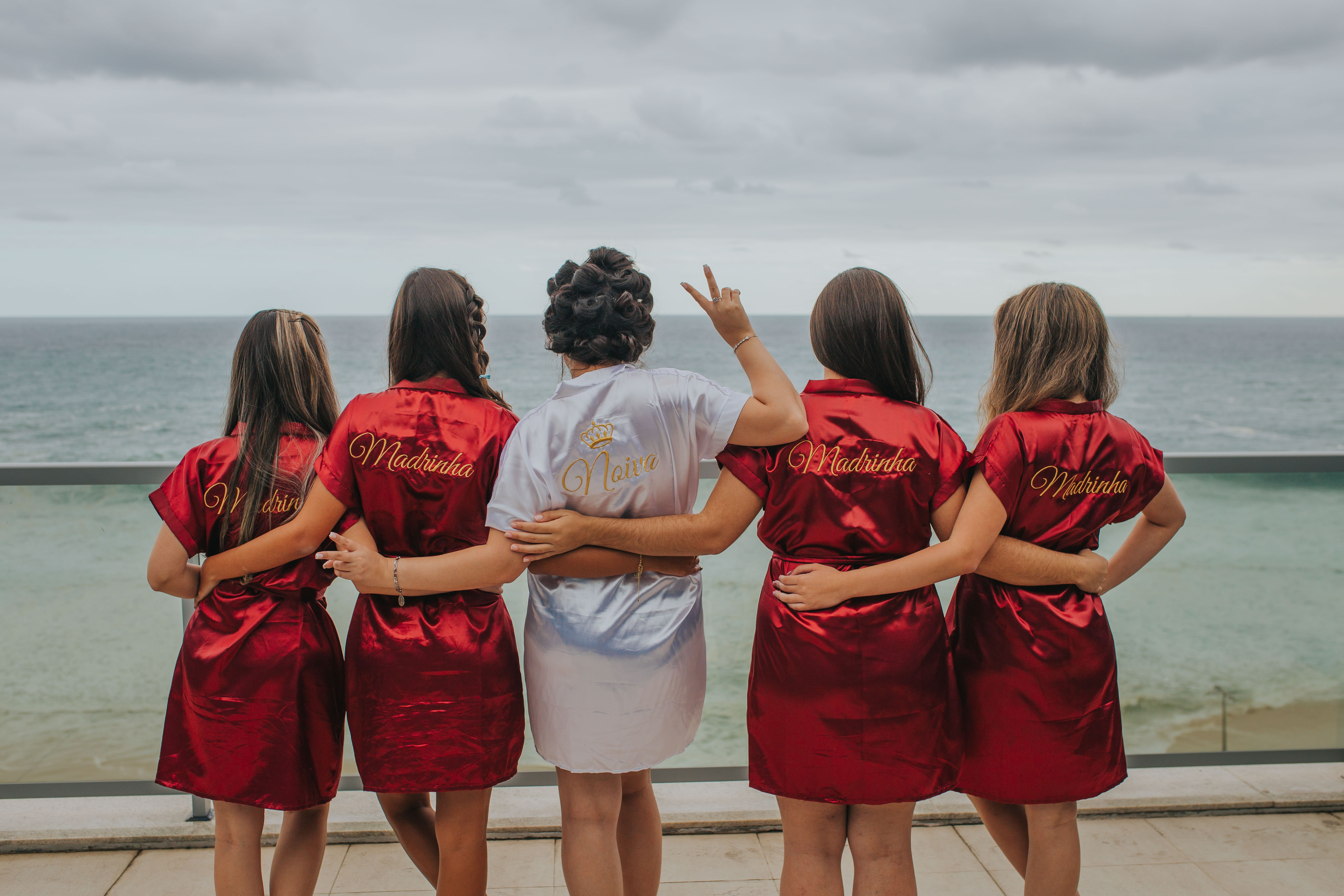 Bride and Bridesmaids in Custom Robes