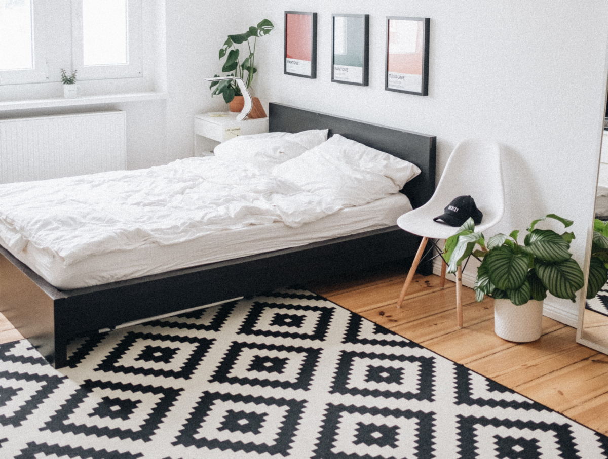 Add warmth through rugs